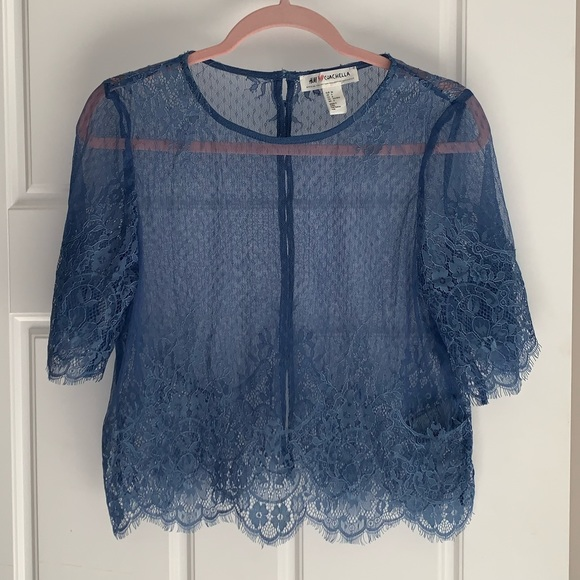 NWOT lace Coachella crop